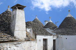 Trulli in the southern Italian town of Alberobello Stock Images