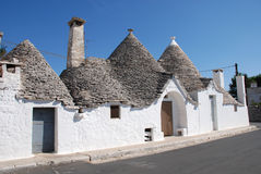 Trulli Street Royalty Free Stock Photography