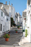 Trulli Street with Plants Stock Photos