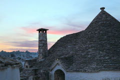 Trulli at sunset Royalty Free Stock Photo
