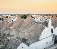 Trulli, the typical old houses in Alberobello. Royalty Free Stock Photography