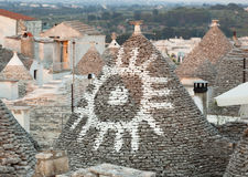 Trulli, the typical old houses in Alberobello. Royalty Free Stock Image