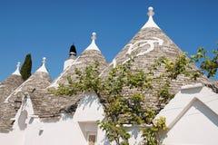 Trulli von Alberobello in Apulia Stockfoto