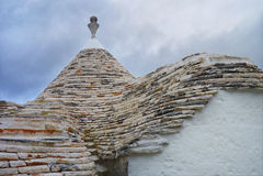 Trullidak in Alberobello Royalty-vrije Stock Afbeelding