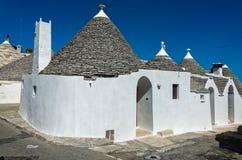 Trullis en Puglia, Italia Imagen de archivo