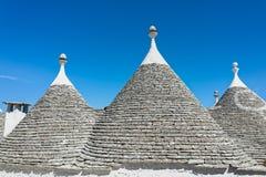 Trullis en Puglia, Italia Imágenes de archivo libres de regalías