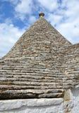 trullo屋顶在阿尔贝罗贝洛 免版税库存照片