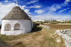 Trullo. Very old stone house, in Locorotondo, Puglia, Italy Stock Image
