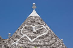Trullo in Alberobello, Italy. Limestone dwelling with dome (trullo) in Alberobello, Apulia (Italy Royalty Free Stock Image