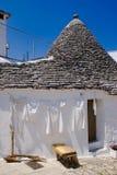 Trullo in Alberobello, Italy. Limestone dwelling with dome (trullo) in Alberobello, Apulia (Italy Stock Image