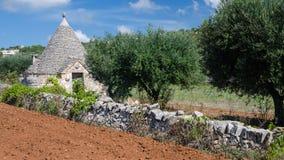 Trullo in Apulia (Italië) stock afbeeldingen