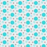 Trullo, blanco y fondo de la repetición de Gray Polka Dot Tile Pattern Imagen de archivo libre de regalías
