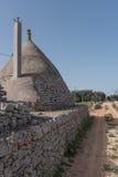 Trullo, casas polémicas Puglia Italia Imagen de archivo libre de regalías