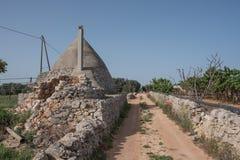 Trullo, casas polémicas Puglia Italia Fotos de archivo libres de regalías