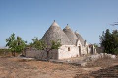 Trullo, casas polémicas Puglia Italia Fotos de archivo