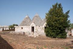 Trullo, casas polémicas Puglia Italia imágenes de archivo libres de regalías