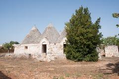Trullo, casas polémicas Puglia Italia Fotografía de archivo
