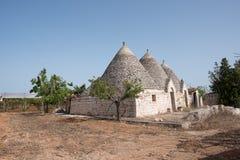 Trullo, casas polémicas Puglia Italia Foto de archivo libre de regalías