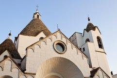 Trullo church. Saint Antonio trullo church in Alberobello, Italy Stock Image