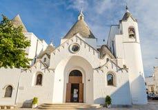 The Trullo church in Alberobello, Apulia, Italy Stock Image