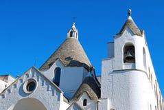A trullo church in Alberobello in Puglia - Italy  Stock Image