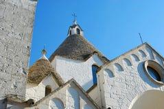 A trullo church in Alberobello in Puglia - Italy  Stock Photos