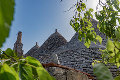 Trullo, controversiële huizen Puglia Italië Stock Afbeelding