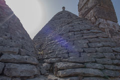 Trullo, controversiële huizen Puglia Italië Royalty-vrije Stock Afbeeldingen