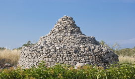 Trullo country, Italy. Trullo crude in the Apulian countryside,  Italy Royalty Free Stock Images