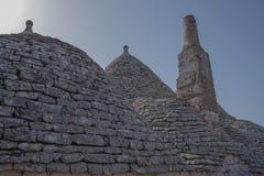 Trullo, dyskusyjni domy Puglia Włochy Fotografia Stock
