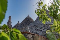 Trullo, dyskusyjni domy Puglia Włochy Obraz Stock