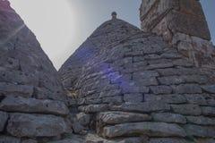Trullo, dyskusyjni domy Puglia Włochy Obrazy Royalty Free