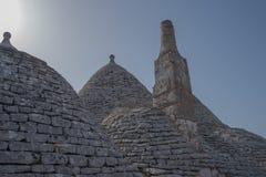 Trullo, dyskusyjni domy Puglia Włochy Zdjęcie Royalty Free
