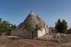 Trullo, dyskusyjni domy Puglia Włochy Zdjęcie Stock