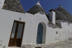 Trullo-Häuser, Alberobello Apulien Lizenzfreies Stockbild