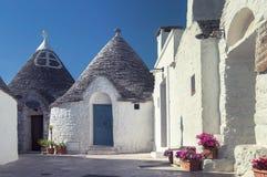Trullo-Häuser, Alberobello Apulien stockfotos