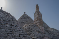 Trullo kontroversiella hus Puglia italy Royaltyfri Foto