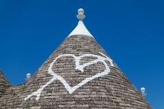 Trullo roof in Alberobello Royalty Free Stock Photos