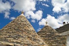 Trullo, roof, alberobello, puglia. Particularly close coating of the trulli of Alberobello Stock Photos