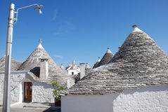 Trullo Roof with Christian Symbol Stock Photography