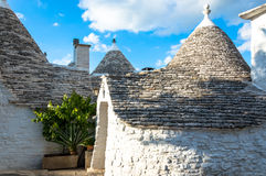 Trullo roofs in Alberobello Royalty Free Stock Photography
