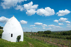Trullo or round house in Flonheim, Rheinhessen, Rheinland Pfalz, Germany. Rhenish Hesse or Rhine-Hesse German: Rheinhessen is a region and a former government Stock Image