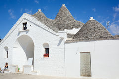Trullo soberano em Alberobello Fotografia de Stock Royalty Free