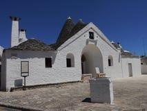 Trullo Sovrano, Alberobello, Apulia region, Południowy Włochy fotografia royalty free