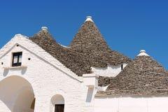 Trullo Sovrano i Alberobello, Apulia, Italien Arkivbild