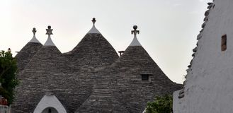 Detail of the Trulli roof, the famous stone buildings of Alberobello. Puglia stock photo
