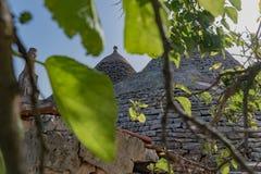 Trullo, umstrittene Häuser Puglia Italien Stockbild