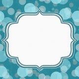 Trullo y Gray Polka Dot Frame Background Imagen de archivo libre de regalías