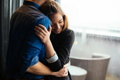 Truly happy couple hugging Royalty Free Stock Photography