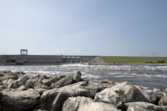 Truman湖水坝,洪水 库存图片